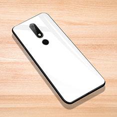 Silicone Frame Mirror Case Cover for Nokia 6.1 Plus White