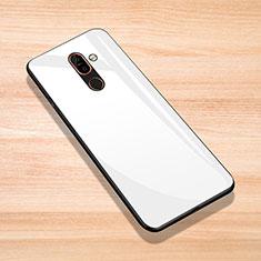 Silicone Frame Mirror Case Cover for Nokia 7 Plus White