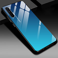 Silicone Frame Mirror Case Cover for OnePlus Nord Blue