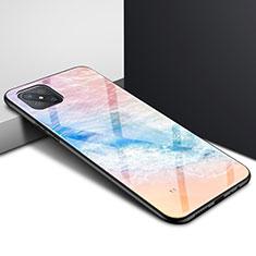 Silicone Frame Mirror Case Cover for Oppo A92s 5G Orange