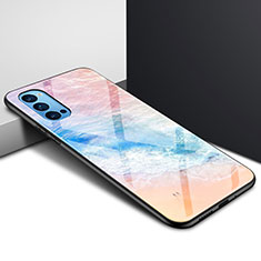 Silicone Frame Mirror Case Cover for Oppo Reno4 5G Orange