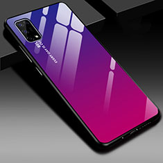 Silicone Frame Mirror Case Cover for Realme V5 5G Hot Pink