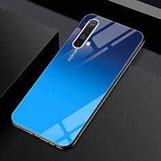 Silicone Frame Mirror Case Cover for Realme X50 5G Blue
