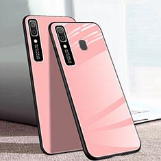Silicone Frame Mirror Case Cover for Samsung Galaxy A20e Pink