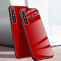 Silicone Frame Mirror Case Cover for Samsung Galaxy A20e Red