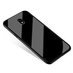 Silicone Frame Mirror Case Cover for Samsung Galaxy J5 (2017) SM-J750F Black