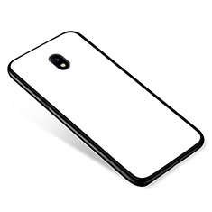 Silicone Frame Mirror Case Cover for Samsung Galaxy J5 Pro (2017) J530Y White