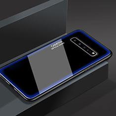 Silicone Frame Mirror Case Cover for Samsung Galaxy S10 5G SM-G977B Blue