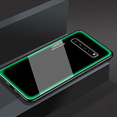 Silicone Frame Mirror Case Cover for Samsung Galaxy S10 5G SM-G977B Green