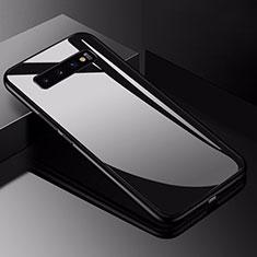 Silicone Frame Mirror Case Cover for Samsung Galaxy S10 Black