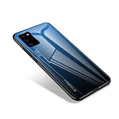 Silicone Frame Mirror Case Cover for Samsung Galaxy S20 FE 5G Blue