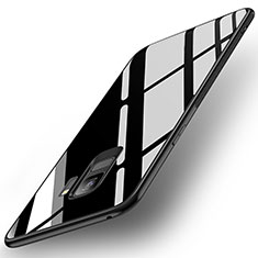 Silicone Frame Mirror Case Cover for Samsung Galaxy S9 Black