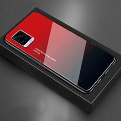 Silicone Frame Mirror Case Cover for Vivo V20 Red
