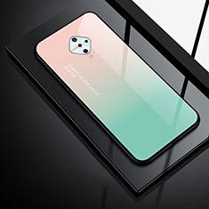 Silicone Frame Mirror Case Cover for Vivo X50 Lite Green