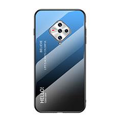 Silicone Frame Mirror Case Cover for Vivo X50e 5G Blue
