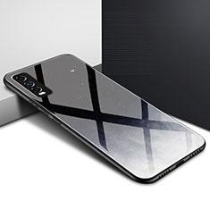 Silicone Frame Mirror Case Cover for Vivo Y20s Black