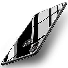 Silicone Frame Mirror Case Cover for Xiaomi Mi 8 Black