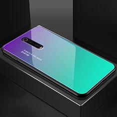 Silicone Frame Mirror Case Cover for Xiaomi Mi 9T Cyan