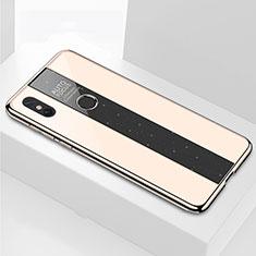 Silicone Frame Mirror Case Cover for Xiaomi Mi Max 3 Gold