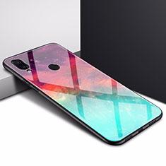Silicone Frame Mirror Case Cover for Xiaomi Redmi 7 Cyan