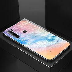Silicone Frame Mirror Case Cover for Xiaomi Redmi Note 8 Orange