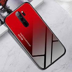 Silicone Frame Mirror Case Cover for Xiaomi Redmi Note 8 Pro Red