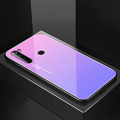 Silicone Frame Mirror Case Cover for Xiaomi Redmi Note 8 Purple