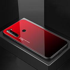 Silicone Frame Mirror Case Cover for Xiaomi Redmi Note 8 Red