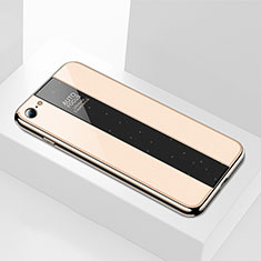 Silicone Frame Mirror Case Cover M01 for Apple iPhone 6S Gold