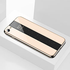 Silicone Frame Mirror Case Cover M01 for Apple iPhone SE (2020) Gold