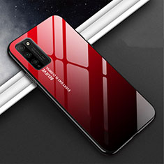 Silicone Frame Mirror Case Cover M01 for Huawei Honor 30 Lite 5G Red