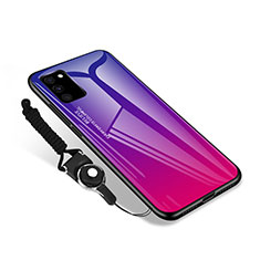 Silicone Frame Mirror Case Cover M01 for Samsung Galaxy S20 FE 5G Hot Pink