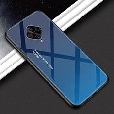 Silicone Frame Mirror Case Cover M01 for Vivo X50 Lite Blue