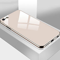 Silicone Frame Mirror Case Cover M02 for Apple iPhone 6S Plus Gold