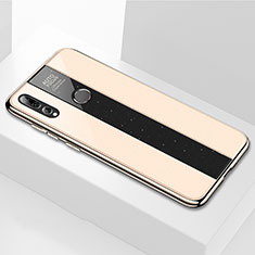 Silicone Frame Mirror Case Cover M02 for Huawei Enjoy 9s Gold