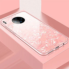 Silicone Frame Mirror Case Cover M02 for Huawei Mate 30 Pro 5G Rose Gold