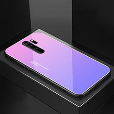 Silicone Frame Mirror Case Cover M02 for Xiaomi Redmi Note 8 Pro Purple