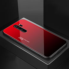 Silicone Frame Mirror Case Cover M02 for Xiaomi Redmi Note 8 Pro Red