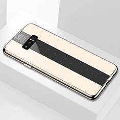 Silicone Frame Mirror Case Cover M03 for Samsung Galaxy Note 8 Duos N950F Gold