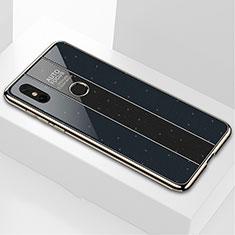 Silicone Frame Mirror Case Cover M03 for Xiaomi Mi Mix 3 Black