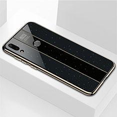 Silicone Frame Mirror Case Cover M04 for Huawei Enjoy 9 Plus Black