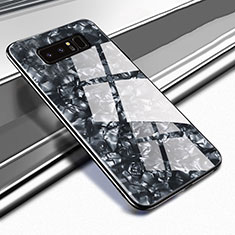 Silicone Frame Mirror Case Cover M04 for Samsung Galaxy Note 8 Duos N950F Black