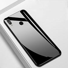 Silicone Frame Mirror Case Cover M05 for Huawei Enjoy 9 Plus Black