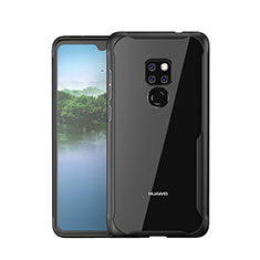 Silicone Frame Mirror Case Cover M05 for Huawei Mate 20 Black