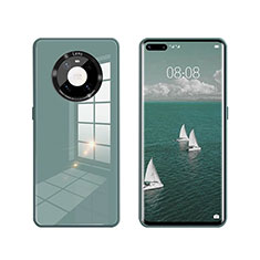Silicone Frame Mirror Case Cover T01 for Huawei Mate 40 Pro Green