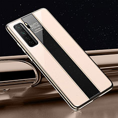Silicone Frame Mirror Case Cover T01 for Huawei P40 Lite 5G Gold