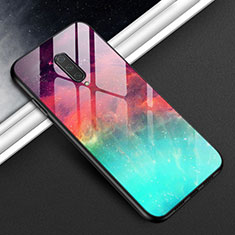 Silicone Frame Mirror Case Cover T01 for OnePlus 8 Cyan