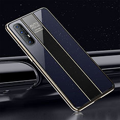 Silicone Frame Mirror Case Cover T01 for Oppo Find X2 Neo Blue