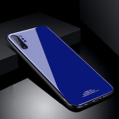 Silicone Frame Mirror Case Cover T01 for Samsung Galaxy Note 10 Plus 5G Blue