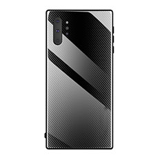 Silicone Frame Mirror Case Cover T02 for Samsung Galaxy Note 10 Plus 5G Black